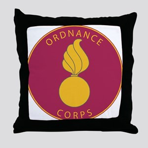 US Army Ordnance Corps Throw Pillow